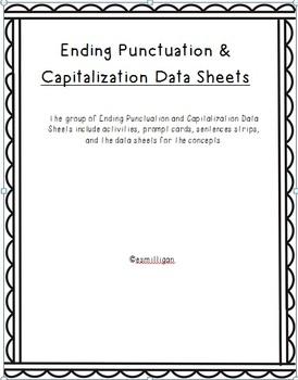 Data Collection - Ending Punctation & Capitalization Data Sheets