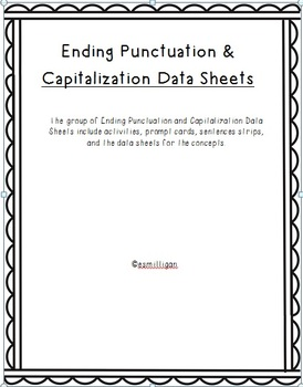 Data Collection - Ending Punctation & Capitalization Data Sheets