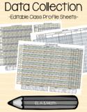 Data Collection-Kindergarten Class Profile Sheets
