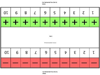 Data Collection Number Strip for Discrete Trials and IEP Goal Work