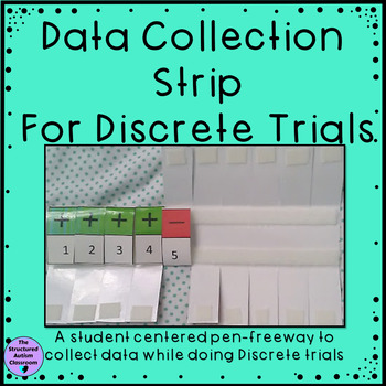Data Collection Number Strip for Discrete Trials and IEP G
