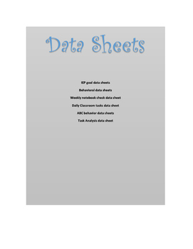Data Collection Packet