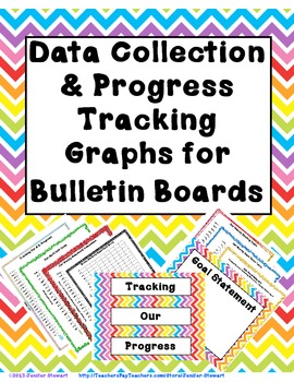 Data Collection Progress Tracking Graphs For Bulletin Boards Tpt