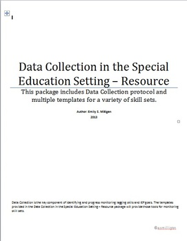 Data Collection - Resource Setting