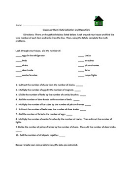 Data Collection Scavenger Hunt and Basic Operations