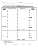 Daily & Weekly Data Collection Sheet