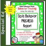 Data Collection Sheet: Daily Behavior Tracking Logs