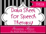 Data Collection Sheet for Speech Therapy