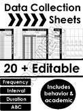 DATA COLLECTION SHEETS BUNDLE