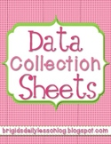Data Collection Sheets - Student Progress