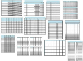 33 Data Collection Sheets Template RTI IEP Progress Monitoring Standards Based