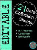 Data Collection Sheets for Special Ed **Editable**