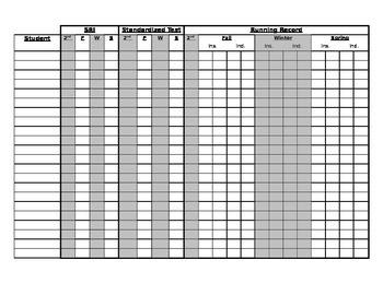 Data Collection Spreadsheet