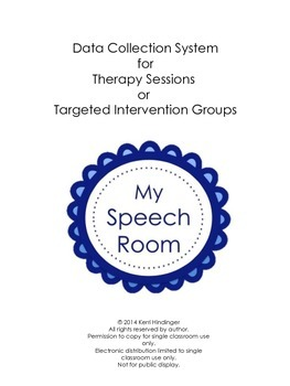 Data Collection System for Therapy and Targeted Intervention Groups--Freebie