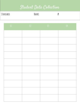 Data Collection and Weekly Data Checklist