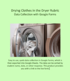 Data Collection for Drying Clothes developed for Google Forms