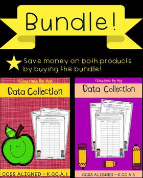 Data Collection for Kindergarten Standards K.CC.A.1 & K.CC.A.3{BUNDLE}