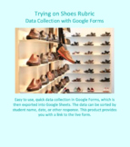 Data Collection for Trying on Shoes developed for Google Forms