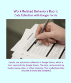 Data Collection for Work Related Behaviors developed for Google Forms