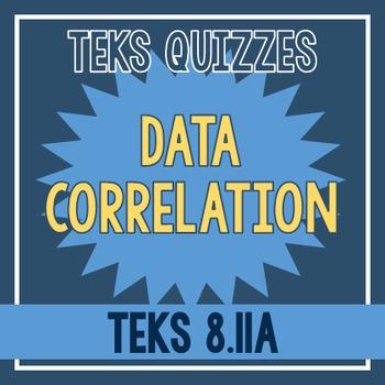 Data Correlation Quiz (TEKS 8.11A)