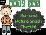 Data Dan Bar and Picture Graph Checklist