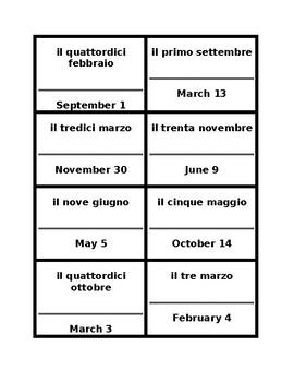 Data (Date in Italian) Cerchio magico
