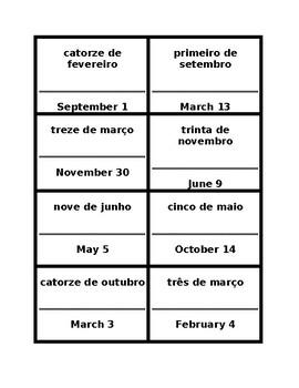 Data (Date in Portuguese) Círculo mágico