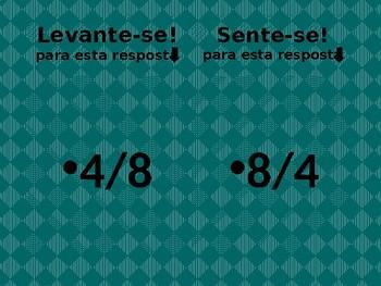 Data (Date in Portuguese) Levante-se Sente-se