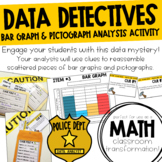 Data Detectives Bar Graph & Pictograph Mystery Activity