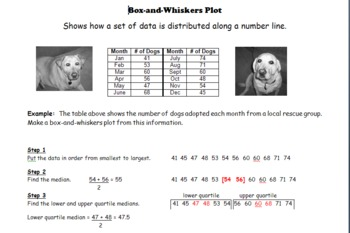 Data Display:  Making and Analyzing Box-and-Whiskers Plots
