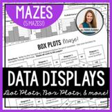 Data Display Mazes (Dot Plot, Box Plot, Stem-and-Leaf, Histogram, Circle Graph)