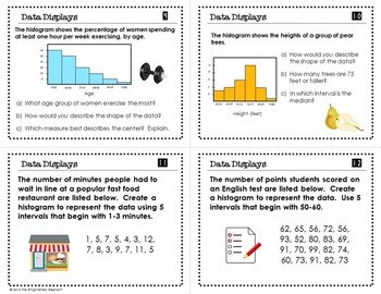 Data Display Task Cards