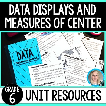 Data Displays and Measures of Center Unit Resources : 6th Grade