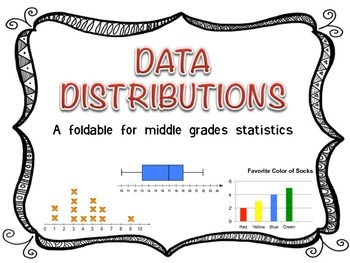 Data Distributions Foldable