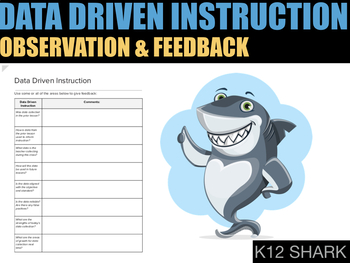 Data Driven Instruction: Professional Observation & Feedback Doc.