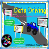Data Driving with tally charts, bar graphs, picture graphs, line plots