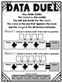 Data Duel: A Mean, Median, Mode, Range Partner Game