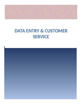 Data Entry & Customer Service