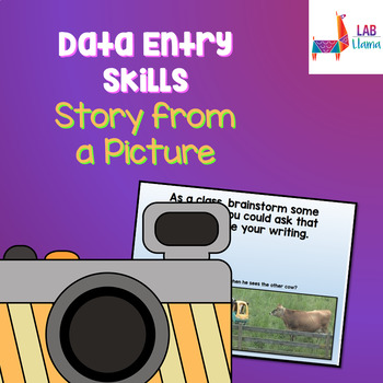 Data Entry Skills: Story from a Picture (Google Docs Compatible)