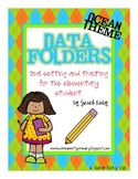 Data Folders for Elementary Students - Ocean Theme