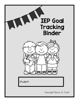 Data Form for Tracking IEP Goals