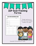 *UPDATED* Data Form for Tracking IEP Goals