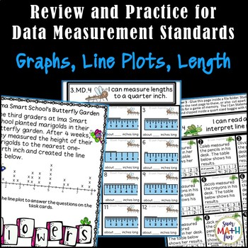 Line Plots, Measurement, Data, Activities - Common Core Aligned