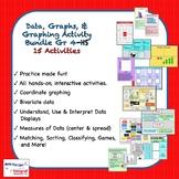 Data, Graphs, & Graphing Activity Bundle