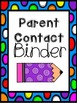 Data, Homework, Parent Contact Binders {{Freebie}}