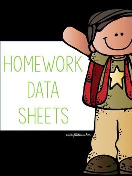 Editable Data Homework Sheet