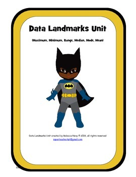 Data Landmark Unit (maximum, minimum, range, median, mode, mean)