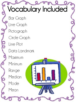 Data Landmarks and Graphing Vocabulary Posters ~ Set of 12