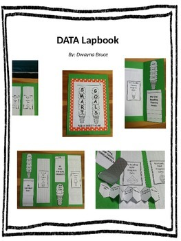 Data Lapbook with editable organizers, foldables, & graphs - Sweet Treat Theme