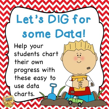 Data:  Let's DIG for Data!  Student Data Charts - grades 1 - 5